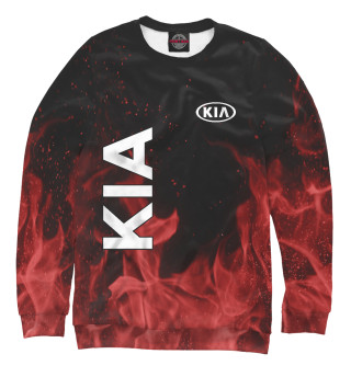 Одежда с принтом KIA red fire