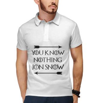 Поло мужское Ничего ты не знаешь Джон Сноу