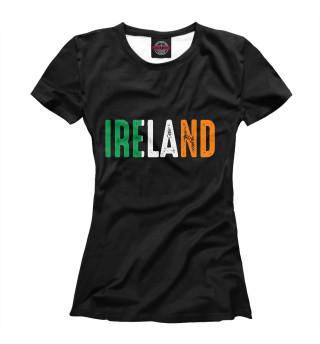 Футболка женская IRELAND - ИРЛАНДИЯ