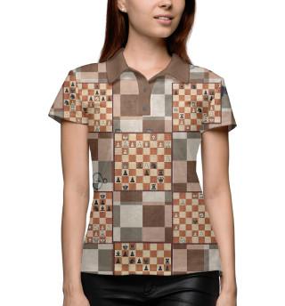Поло женское Шахматная доска (4680)