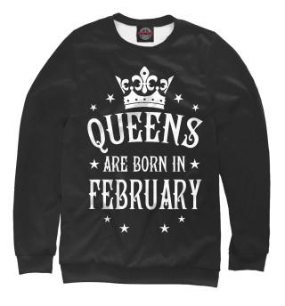 Одежда с принтом Королевы рождаются в феврале (497726)