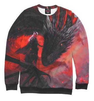 Одежда с принтом Дракон