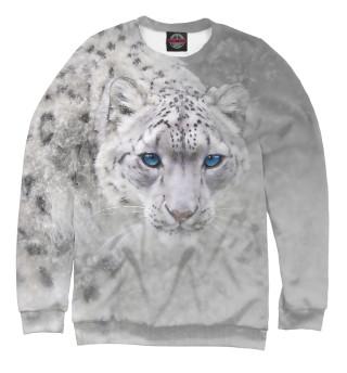 Одежда с принтом Леопард в снегу