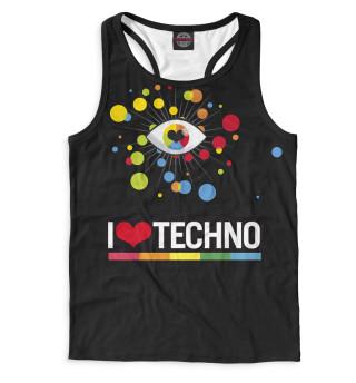 Майка борцовка мужская I Love Techno (3244)