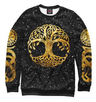 Одежда с принтом Скандинавское дерево жизни