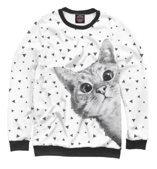 Одежда с принтом Подглядывающий кот