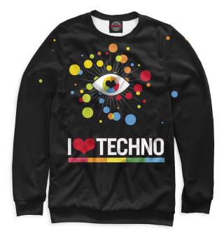 Одежда с принтом I Love Techno (845339)