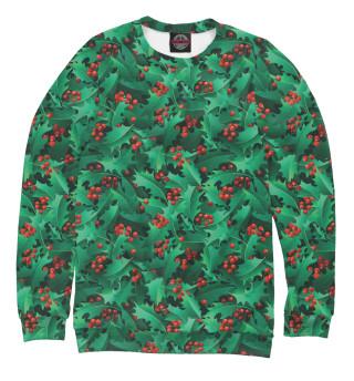 Одежда с принтом Рождественский падуб