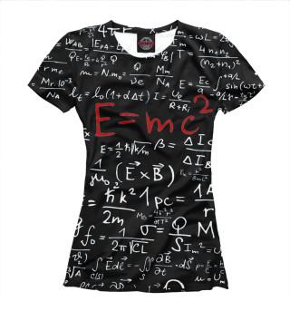 Футболка женская E=mc