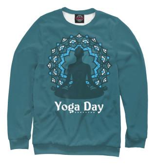 Одежда с принтом International yoga day (919489)