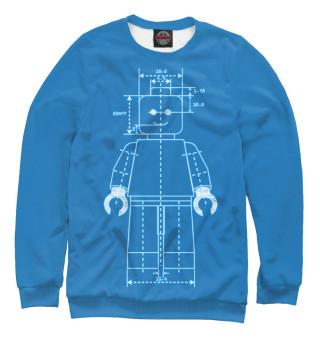 Одежда с принтом Чертеж Lego