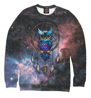 Одежда с принтом Сова космос
