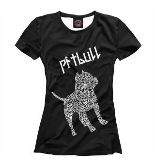 Футболка женская Питбуль (8923)