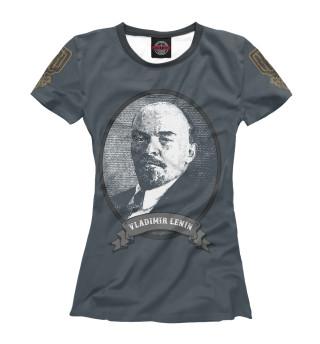 Футболка женская Ленин (2055)