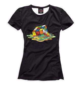 Футболка женская Кубик Рубика