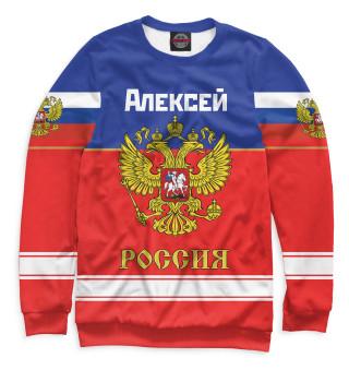 Одежда с принтом Хоккеист Алексей
