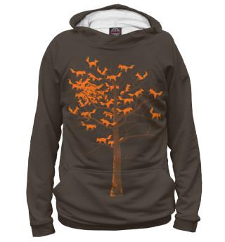 Худи женское Лисички на дереве