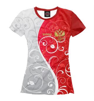 Футболка женская Узоры с гербом