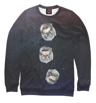 Одежда с принтом Ежи в космосе