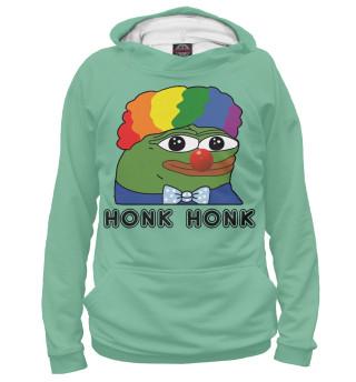 Худи женское Pepe clown green