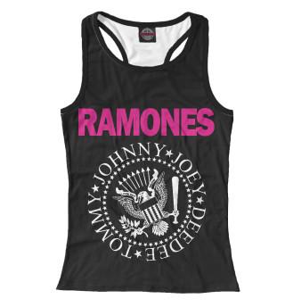 Майка борцовка женская Ramones pink