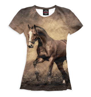 Футболка женская Лошади