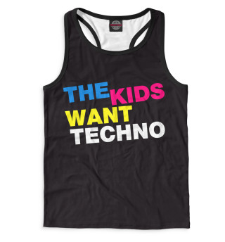 Майка борцовка мужская I Love Techno (2578)