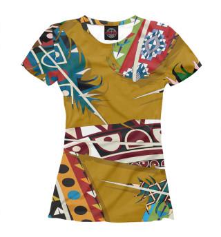 Футболка женская Африканский стиль (3473)