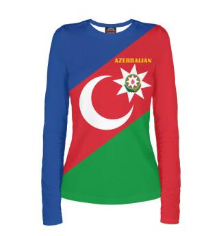 Лонгслив  женский Azerbaijan - герб и флаг