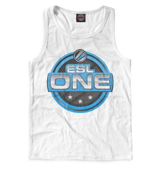 Майка борцовка мужская ESL One Logo White