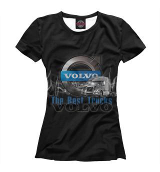 Футболка женская VOLVO - лучшие грузовики