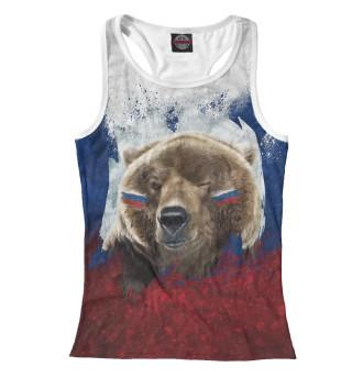 Майка борцовка женская Русский Медведь