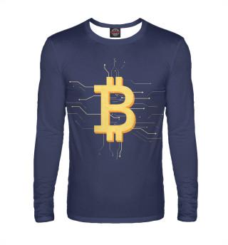 Лонгслив  мужской Криптовалюта биткоин
