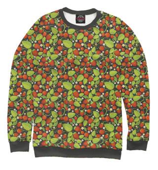 Одежда с принтом Хохлома (ягоды)