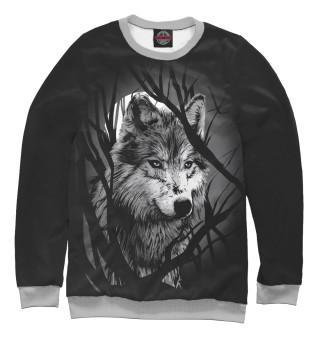 Одежда с принтом Grey Wolf