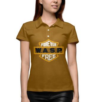 Поло женское W.A.S.P. band