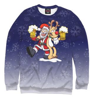 Одежда с принтом Санта и олень (550809)