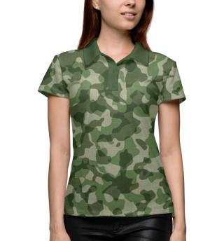 Поло женское Зелёный камуфляж
