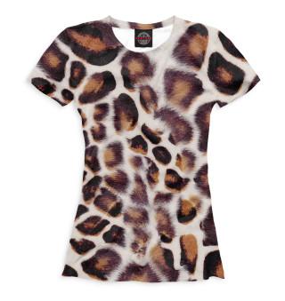 Футболка женская Дымчатый леопард