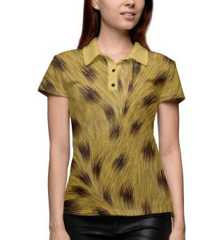 Поло женское Леопард