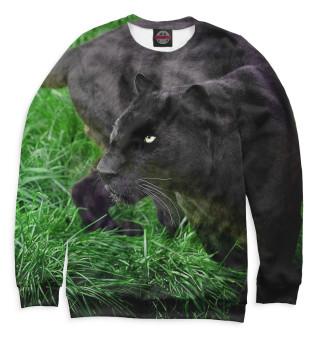 Одежда с принтом Пантера на траве