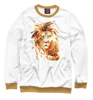 Одежда с принтом Золотой лев