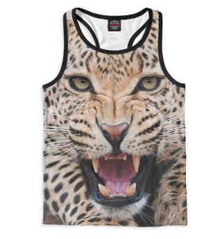 Майка борцовка мужская Леопард (4788)