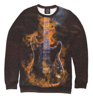 Одежда с принтом Гитара в огне