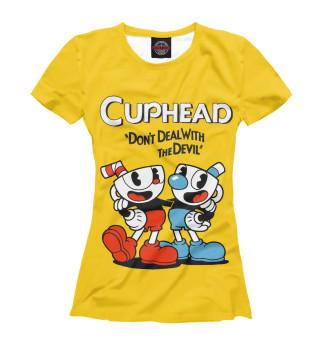 Футболка женская Cuphead (7271)