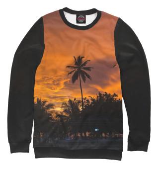 Одежда с принтом Пальма