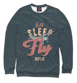 Одежда с принтом Ешь,спи,летай,повтори