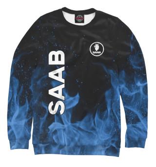 Одежда с принтом SAAB blue fire
