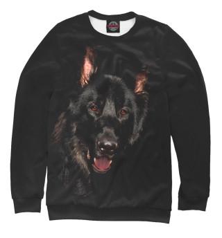 Одежда с принтом Волк в ночи