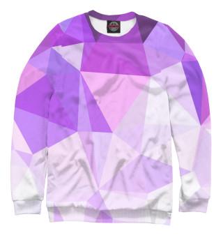 Одежда с принтом Пурпурные Полигоны